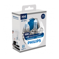 Лампа Philips H4 WhiteVision 2шт (12342WHVSM)