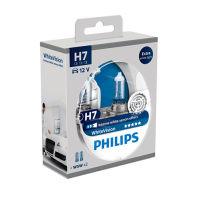 Лампа Philips H7 WhiteVision 2шт (12972 WHVSM)